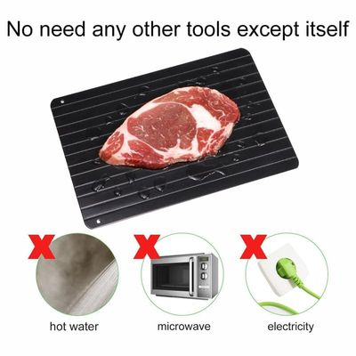 Thaw Frozen Food Meat Fruit Quick Defrosting Plate Board Defrost Kitchen Gadgets Tools 9x Speed Aluminum Fast Defrosting Tray