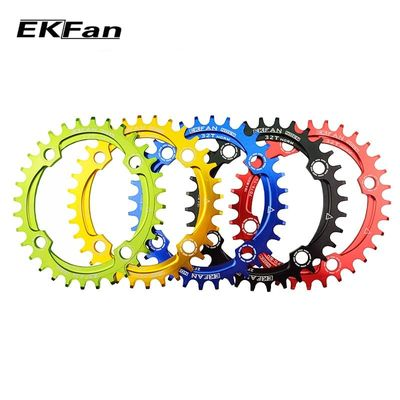 New EKFan 104BCD Bicycle Chainring 32T/34T/36T/38T Round Oval Cycle Chainwheel 7075-T6 MTB Bike Circle Crankset Plate