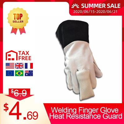 Welding Tig Finger Glove COMBO Welder Tool Glass Fiber Welding Gloves Heat Shield Guard Equipment High Temperature Resistance