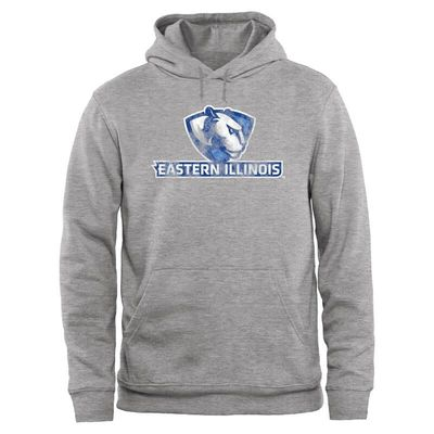 Eastern Illinois Panthers Big & Tall Classic Primary Pullover Hoodie - Ash