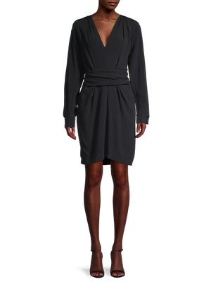 Stella McCartney Ruched Belted Sheath Dress