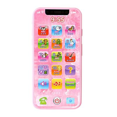 New Baby Toys Simulated Mobile Phone Music Toys Early Educational English/Russian Learning Machine Toys For Children