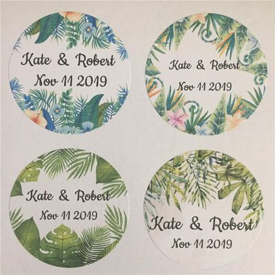 100 Pieces Custom Wedding Sticker Adhesive Labels Personalized Name And Date Gift Seals