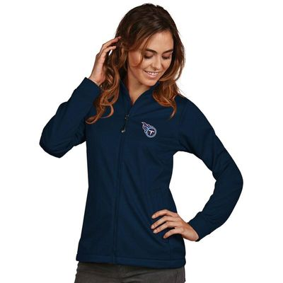 Tennessee Titans Women's Antigua Full-Zip Golf Jacket - Navy