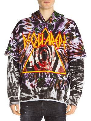 Dsquared2 Tiered Tie Dye Logo Graphic Hoodie