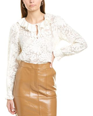 Rebecca Taylor Lacey Silk Top