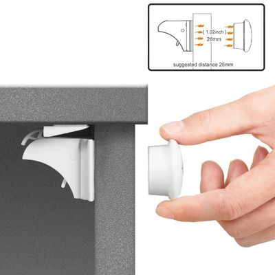 Magnetic Lock Child Protection From Children Locks Baby Safety Lock Drawer Latch Cabinet Door Limiter Infant Kids Security Locks