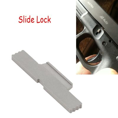 Magorui Extended  Stainless Steel Silvery Glock Slide Lock Lever For ALL Glock Models
