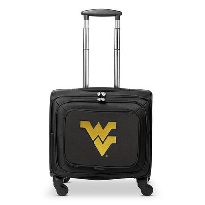 West Virginia Mountaineers 14In 2-Wheeled Laptop Overnighter Travel Case - Black