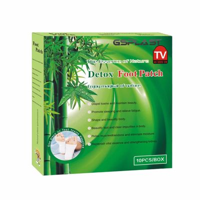 1box=10pcs  High quality Bamboo Detox Foot Patch With Adhesive Sheets Detox Foot Pads Release Toxins Health Care Massage