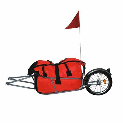 Single Wheel Bicycle Trailer without Bag can Load 66LB, Bicycle Luggage Trailer, 16inch Big Wheel Cargo Bike Trailer