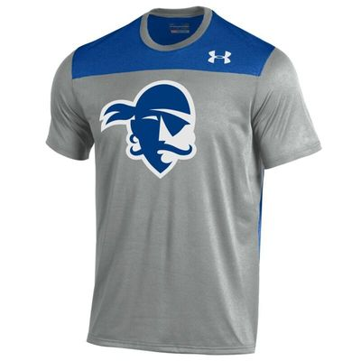Seton Hall Pirates Under Armour Foundation Tech T-Shirt - Heather Gray/Royal
