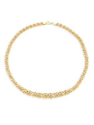 Saks Fifth Avenue Made in Italy 14K Yellow Gold Graduated Byzantine Chain Necklace