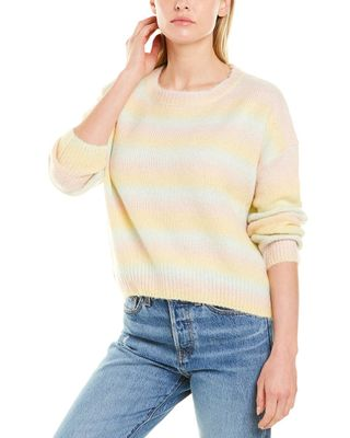 LUMIERE Fuzzy Knit Wool-Blend Sweater