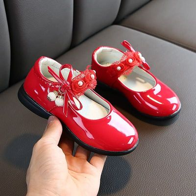 Fashion Kids Shoes Girls Princess Dancing Shoes Flowers Sweet Spring Autumn Baby Toddler Shoes Children Wedding Shoes
