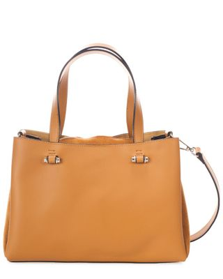 Italian Leather Top Handle Bag