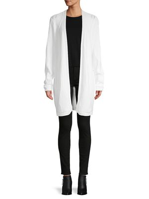 Calvin Klein Cable-Knit Open-Front Cardigan