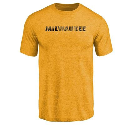 Wisconsin-Milwaukee Panthers Classic Wordmark Tri-Blend T-Shirt - Gold