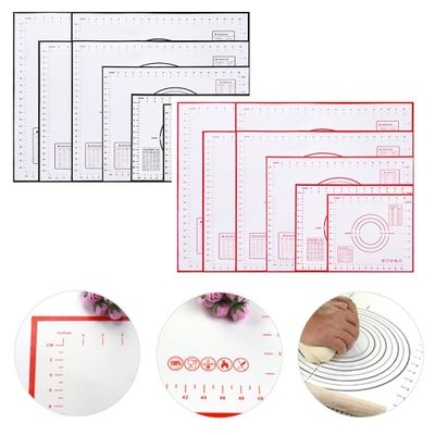 Silicone Baking Mat With Scale Rolling Dough Pad Kneading Dough Mat Non Stick Pastry Oven Liner Bakeware 60*40/40*30cm