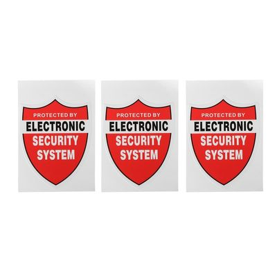 Safurance 3 Pcs SECURITY SYSTEM DECALS Sticker Decal Video Warning CCTV Camera Home Alarm Security