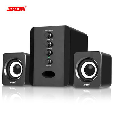 SADA D-202 Stereo Computer Speakers USB Wired computer Combination Speakers Subwoofer  Portable Speakers PC Speaker for Phone TV