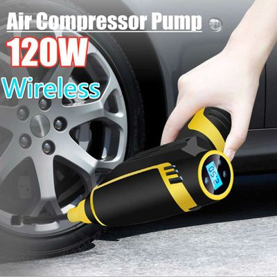 New Car Inflatable Pump USB Charging Wireless Handheld Electric 120w Digital Car Air Compressor Pump for Motorcycles Cars Truck