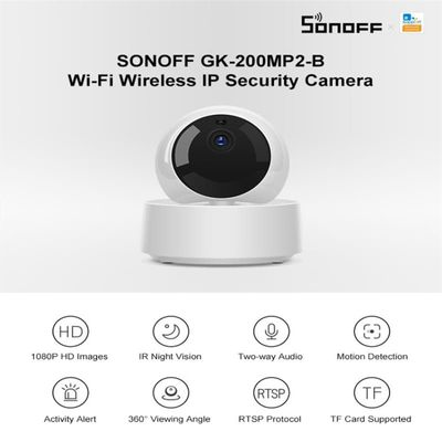 Sonoff GK-200MP2-B 1080P Full HD Wireless WiFi APP Control IP Security Camera Motion Detective 360 Degree Viewing Activity Alert