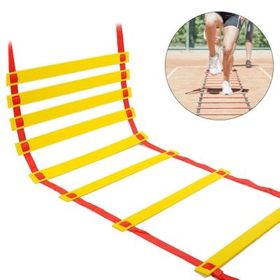 Professional Agility Ladder Training High Toughness Ladder Speed Coordination Flat Rung With Carrying Bag