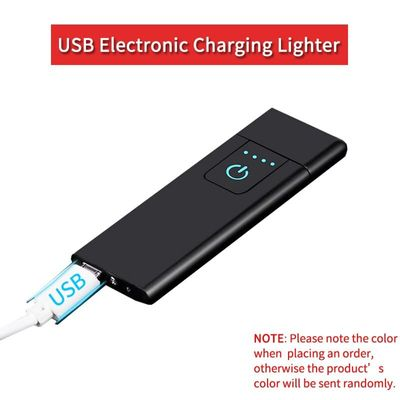 USB Electronic Charging Lighter Double Sided Cigarette Accessories Touch Sensitive Electric Lighters