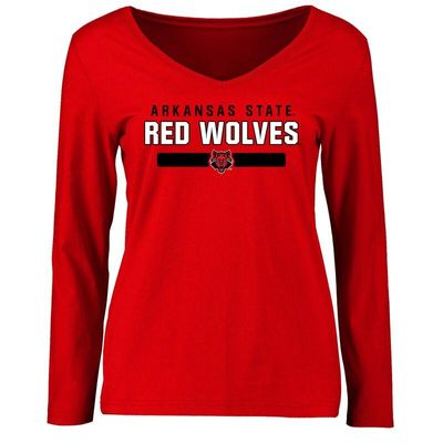 Arkansas State Red Wolves Women's Team Strong Long Sleeve T-Shirt - Red