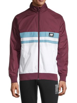 New Balance Colorblock Raglan-Sleeve Jacket