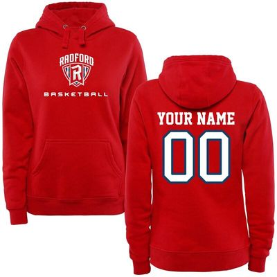 Radford Highlanders Women's Personalized Basketball Pullover Hoodie - Red