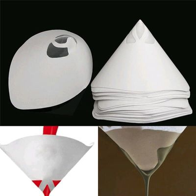 230pcs Car Nylon Conical Paper 100 Mesh Paint Strainer Filter Purifying Cup DAG-ship