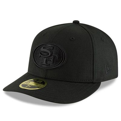 San Francisco 49ers New Era Black On Black Low Profile 59FIFTY Fitted Hat