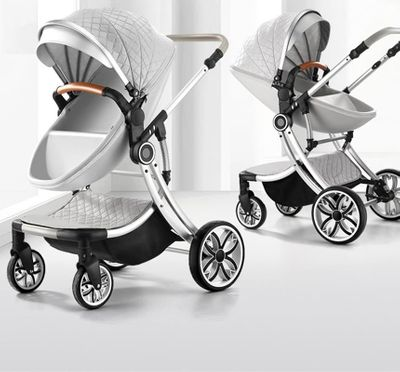 2019 New Multifunctional Baby Stroller High Landscape Carriage 3 in 1Baby Travel Car Four Wheel within 48 Months Infant Stroller