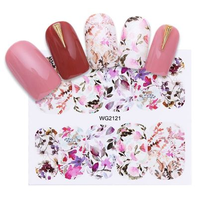Nail Water Decals Blossom Flower Butterfly Nail Art Transfer Stickers Sliders DIY  Tips Decoration