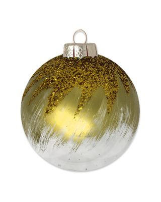 Kat & Annie Gold Brushed Round Set Of 6 Ornaments