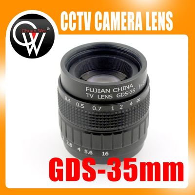 Professional 35mm f/1.7 CCTV Lens C Mount CCTV Lens features alloy casing with quality lens