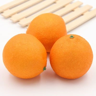 2pcs Orange Artificial Fruits Simulation Fruits for home and party wedding decoration Photo props kitchen decor fruit mold