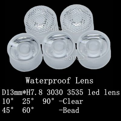 13mm 3535 CREE XPE XPE2 XPG XPG2 XTE Epiled/Semiled 3535 LED Lens waterproof 3030 Chip Diode Clear Bead Surface Integrated lens
