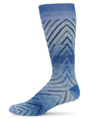 Saks Fifth Avenue Chevron Crew Socks