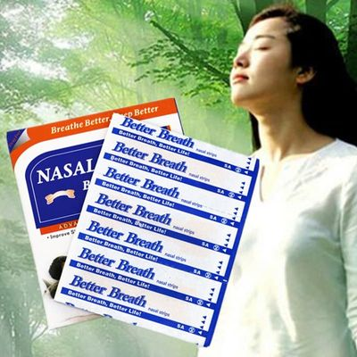 60pcs=2boxes/lot (55x16mm) Best Anti Snoring Self Adhesive Nose Patch Nasal Strips to Breathe Right