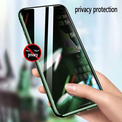 Privacy Tempered Glass Magnetic Case for iPhone 11 pro 11 pro MAX XR X Anti-peeping Magnet Metal Bumper for iPhone 8 7 6 6S Plus