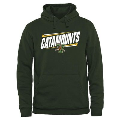 Vermont Catamounts Double Bar Pullover Hoodie - Green