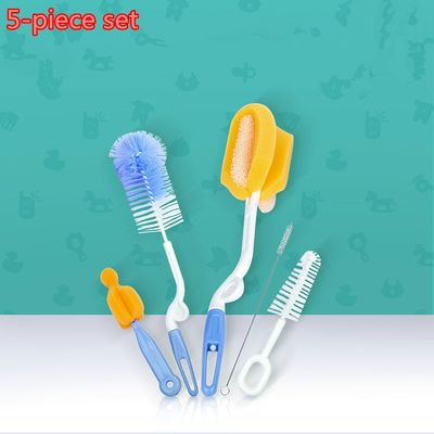 Baby bottle brush set of 5 sponge cleaning brush can rotate baby bottle cleaning brush cleaning supplies