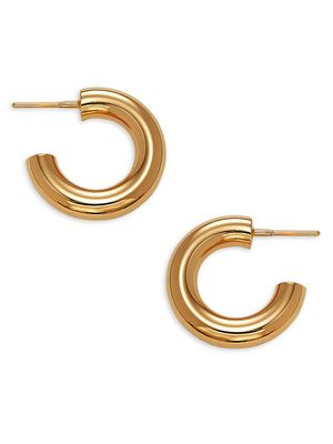 Burberry Goldtone Huggie Hoop Earrings