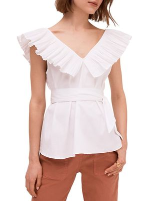 Kate Spade New York Ruffle Neck Tie Top