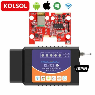 KOLSOL Wireless ELM327 For Ford ELMconfig CH340+25K80 chip HS-CAN / MS-CAN ELM 327 V1.5 OBD2 Code Scanner