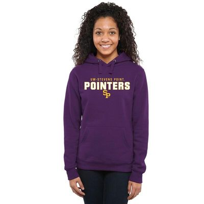Wisconsin-Stevens Point Pointers Women's Team Strong Pullover Hoodie - Purple
