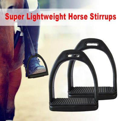 2PCS Children Adults Safety Durable Horse Riding Stirrups 2 Sizes For Horse Rider Lightweight Wide Track Anti Slip Equestrian